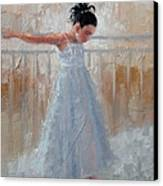 Little Lady Canvas Print by Laura Lee Zanghetti