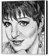 Liza Minnelli In 2006 Canvas Print by J McCombie