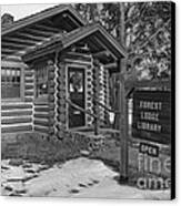 Log Cabin Library 11 Canvas Print by Jim Wright