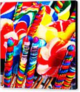 Lollipops - Painterly - Red Canvas Print by Wingsdomain Art and Photography