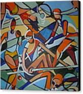 London Olympics Inspired Canvas Print by Michael Echekoba