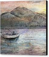 Lone Fisherman Canvas Print by Arline Wagner