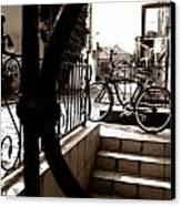 Lonely Bike Canvas Print by Birut Ces