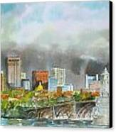 Longfellow Bridge Boston Canvas Print by Harding Bush