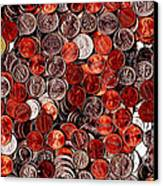 Loose Change . 2 To 1 Proportion Canvas Print by Wingsdomain Art and Photography