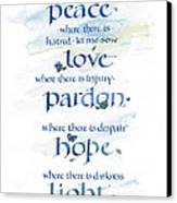 Lord Peace Canvas Print by Judy Dodds