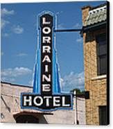 Lorraine Hotel Sign Canvas Print by Joshua House