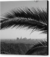 Los Angeles Skyline From Hollywood Hills Canvas Print by Mike Shaffer
