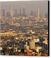 Los Angeles Skyline Canvas Print by Photo by Seattle Dredge