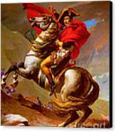 Louis Napoleon At The St Bernard Pass Canvas Print by Pg Reproductions