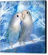 Love At Christmas Card Canvas Print by Carol Cavalaris