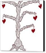 Love Tree Canvas Print by Frank Tschakert