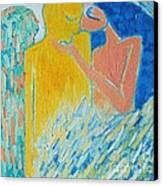 Loving An Angel Canvas Print by Ana Maria Edulescu