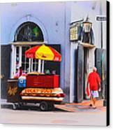 Lucky Dogs - Bourbon Street Canvas Print by Bill Cannon