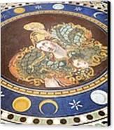 Lunar Phases, 3rd Century Roman Mosaic Canvas Print by Sheila Terry
