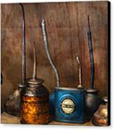 Machinist - Tools - Lubrication Dispensers  Canvas Print by Mike Savad