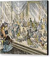 Macys Holiday Display, 1876 Canvas Print by Granger