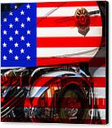 Made In The Usa . Harley-davidson . 7d12759 Canvas Print by Wingsdomain Art and Photography