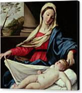 Madonna And Child  Canvas Print by II Sassoferrato
