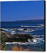 Maine At West Quoddy Canvas Print by Skip Willits