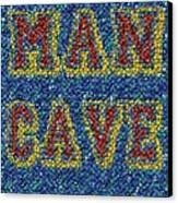 Man Cave Bottle Cap Mosaic Canvas Print by Paul Van Scott