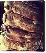 Man With Old Baseball Glove Canvas Print by Ruby Hummersmith