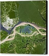 Manaus, Satellite Image Canvas Print by Planetobserver