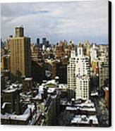 Manhattan View On A Winter Day Canvas Print by Madeline Ellis