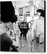 Mannequins At Peggy Sues 50's Diner Canvas Print by Julie Niemela