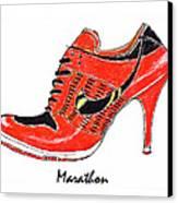 Marathon Canvas Print by Lynn Blake-John