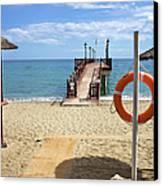 Marbella Beach In Spain Canvas Print by Artur Bogacki