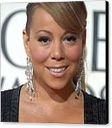 Mariah Carey Wearing Chopard Earrings Canvas Print by Everett