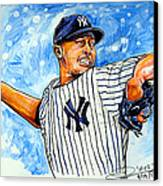 Mariano Rivera Canvas Print by Dave Olsen