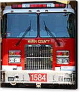 Marin County Fire Department Fire Engine . Point Reyes California . 7d15921 Canvas Print by Wingsdomain Art and Photography
