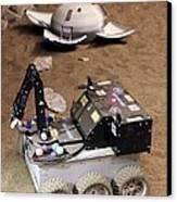 Mars Rover Testing Canvas Print by Ria Novosti