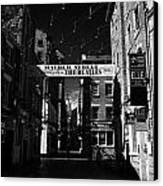 Mathew Street In Liverpool City Centre Birthplace Of The Beatles Merseyside England Uk Canvas Print by Joe Fox