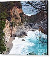 Mcway Falls In Spring Canvas Print by Tonia Noelle