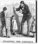 Measuring Children, 1876 Canvas Print by Granger
