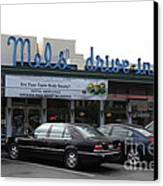 Mel's Drive-in Diner In San Francisco - 5d18012 Canvas Print by Wingsdomain Art and Photography