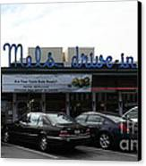 Mel's Drive-in Diner In San Francisco - 5d18013 Canvas Print by Wingsdomain Art and Photography