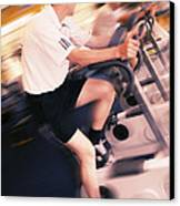 Men Exercising Canvas Print by Mark Sykes