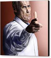 Men Must Know Their Limitations-clint Eastwood Canvas Print by Reggie Duffie