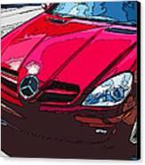 Mercedes Benz Slk Nose Study Canvas Print by Samuel Sheats