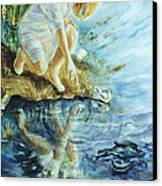 Message In The Water Canvas Print by Catherine Foster