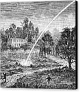 Meteoric Impact, 17th Century Canvas Print by