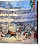 Mexico: Bullfight, 1833 Canvas Print by Granger