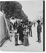Mexico City - Alameda During Holy Week - C 1906 Canvas Print by International  Images