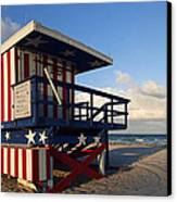 Miami Beach Watchtower Canvas Print by Melanie Viola