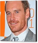 Michael Fassbender At Arrivals Canvas Print by Everett