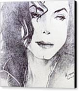 Michael Jackson - Nothing Compared To You Canvas Print by Hitomi Osanai